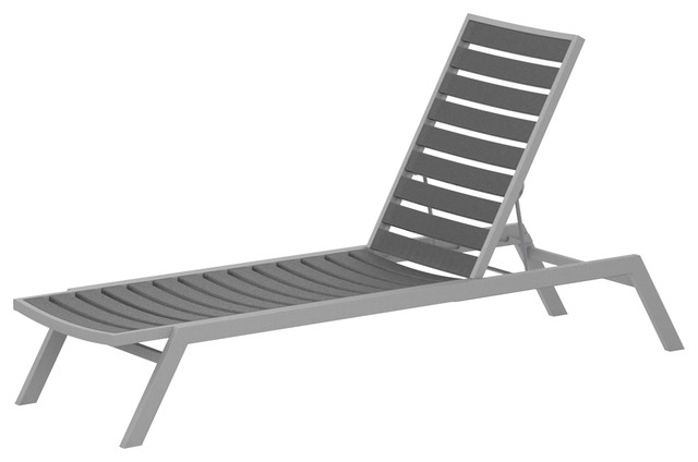 Amazing Polywood Euro Chaise Textured Silver Slate Grey Theyellowbook Wood Chair Design Ideas Theyellowbookinfo