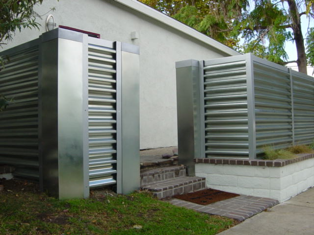 corregated steel fence - Modern - Orange County - by MARK ...