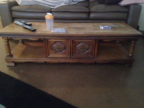 Help refinish coffee table for Refinishing a coffee table ideas
