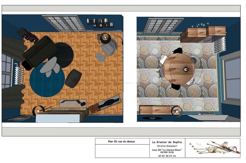 Projet de décoration salon & salle à manger ( murs et sols déjà rénovés)