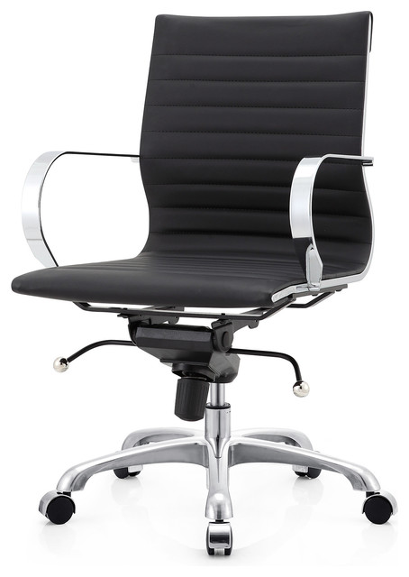 m365 office chair in vegan leather - contemporary - office chairs