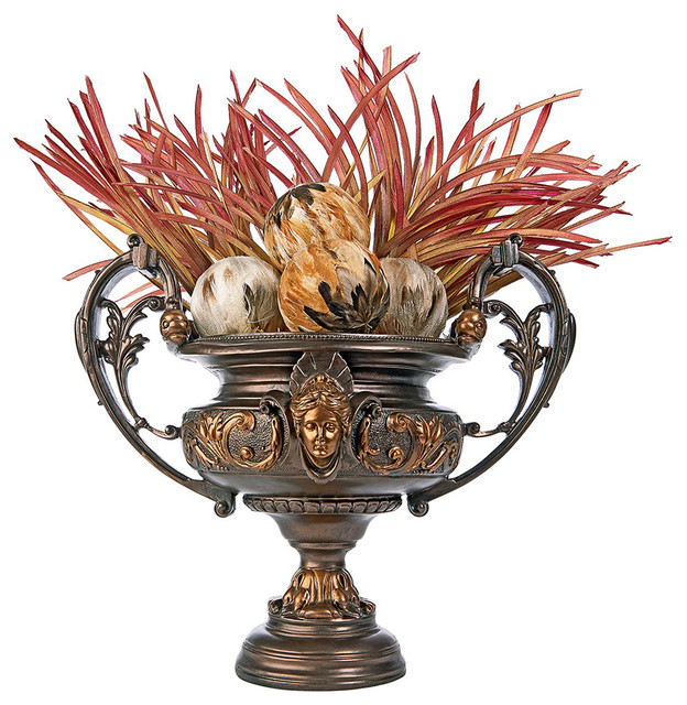 Shop Houzz Design Toscano French Rococo Centerpiece Decorative Urn Decorative Jars And Urns