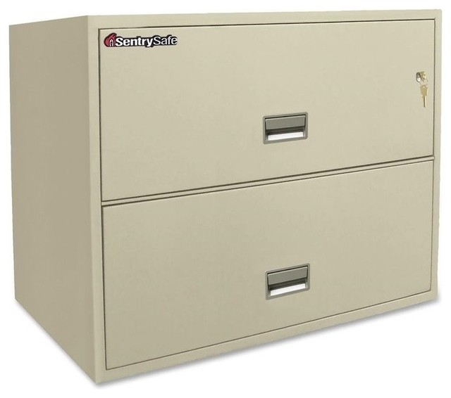 Sentry Locking Drawer Letter/Legal Fire Files - Filing Cabinets - by Homesquare