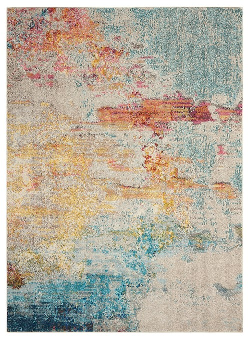 "Celestial Ces02 Area Rug, Sealf, 7'10""x10'6"""