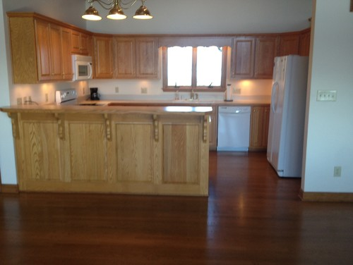 ... Most Usable Storage And Counter Space And Would Changing This Feature  Be Worth The Expense? The Kitchen Has Wood Floors Which Would Be Impacted  Too .