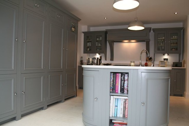 Kitchen Painted In Farrow And Ball Plummett Designed By