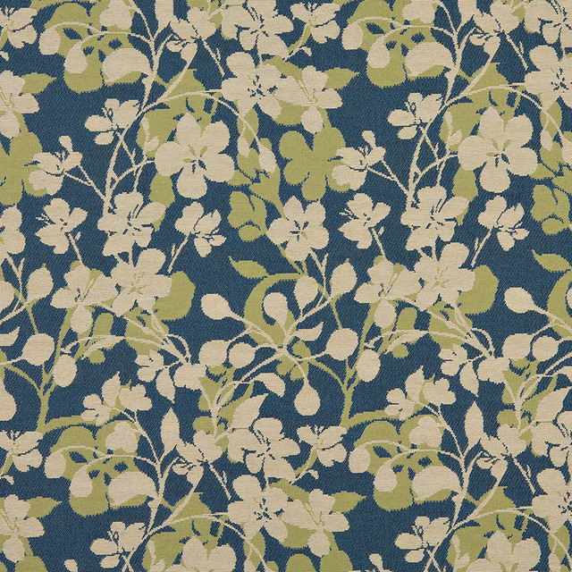 Amazing Beige Dark Blue Lime Green Floral Indoor Outdoor Upholstery Fabric By The  Yard Contemporary Outdoor