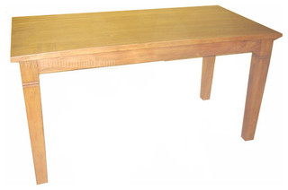 Solid Teak Wood Dining Table Contemporary Dining Tables Other By JAVA