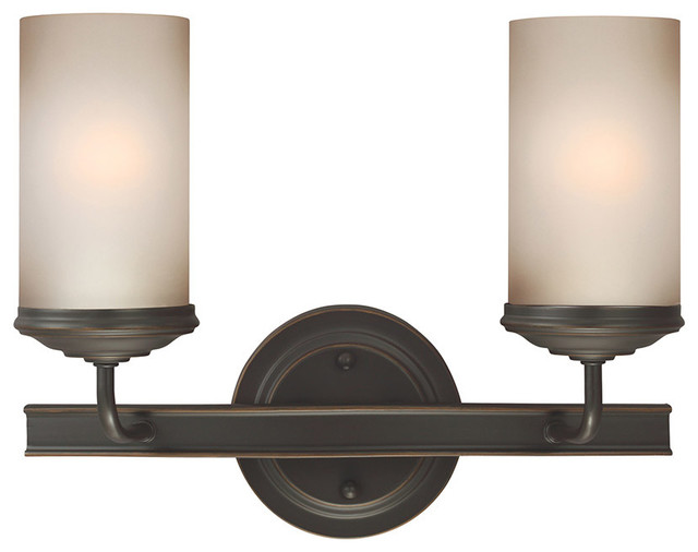 Kimball 3 Light Vanity Light Bronze Houzz Home Design Idea
