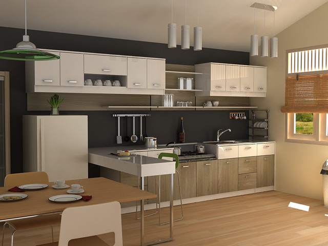 modern small kitchen - Modern - Other