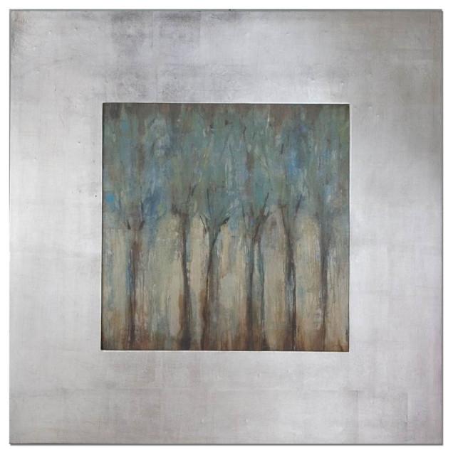 "Uttermost Windblown 47"" Square Comtemporary Art."