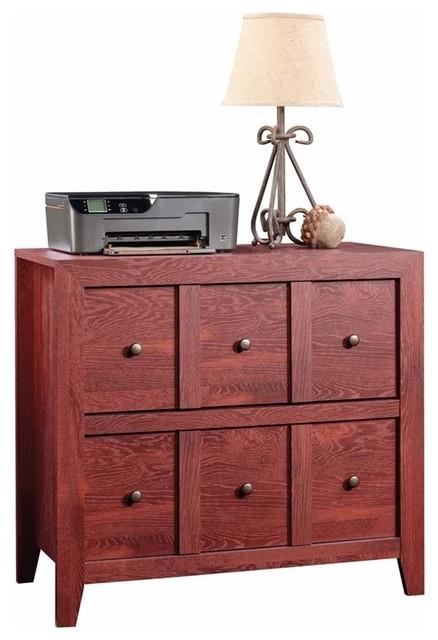Dakota Pass Console With File Drawer, Fiery Pine.