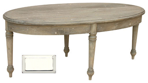 French Country Oval Coffee Table White Farmhouse Tables