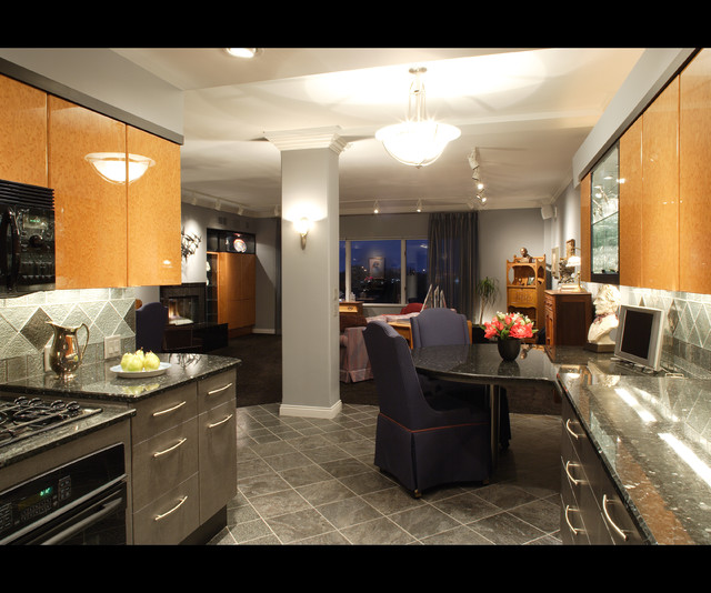 Loft Home Remodel Contemporary Omaha By Eurowood Cabinets Inc