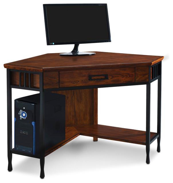 Ironcraft Corner Writing Computer Desk