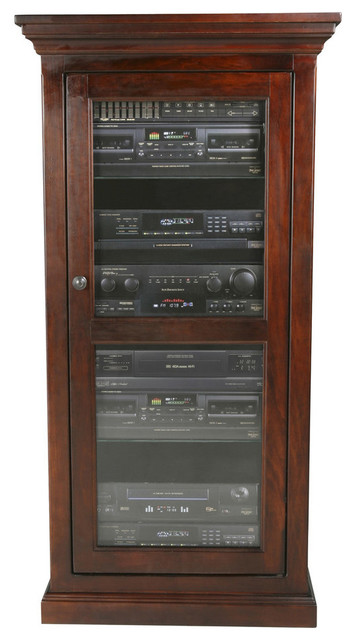 Eagle Furniture Coastal Audio Tower, Caribbean Rum  Transitional Media Cabinets