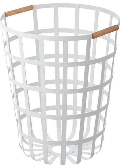 Tosca Round Laundry Basket White.