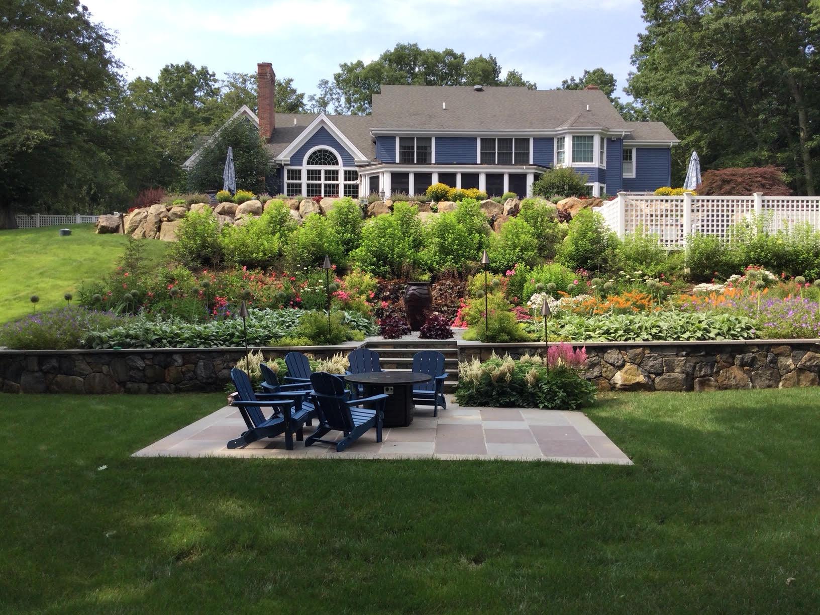 Pollinator Garden and Firepit Destination