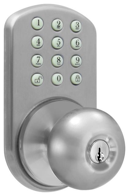 MiLocks Digital Door Knob Lock with Keyless Entry via Keypad Code for I - Contemporary - Door ...
