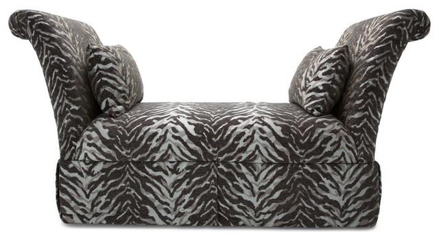 Aico Michael Amini Studio Leeah Upholstered Bench. -1