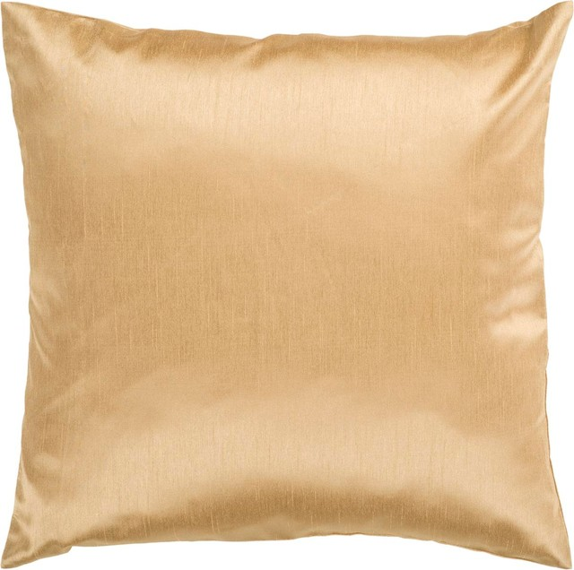 """Surya HH-038 Solid Decorative Pillow, 22""""x22"""", Down Feather Filler"""