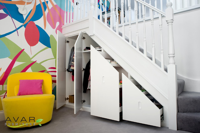 Bespoke Under Stairs Shelving: Kids Room Under Stair Storage
