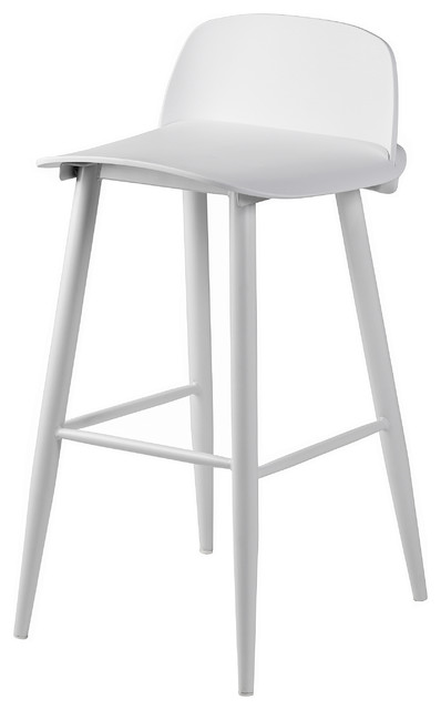 Soco Bar Stool, White
