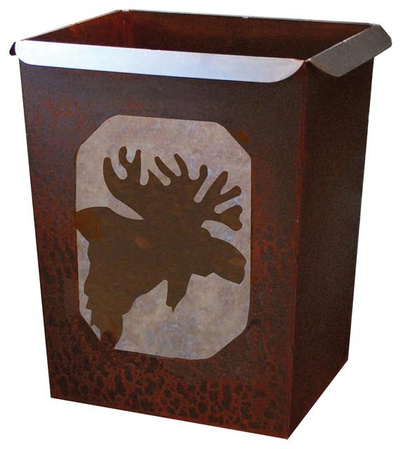 Moose Waste Basket Rustic Bedroom Products By Black