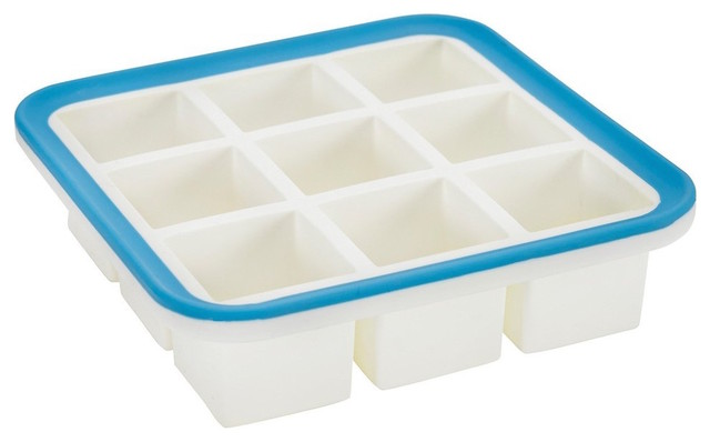 Superb Cube 1.4&x27;&x27; Cube Silicone Ice Cube Tray With Ez-Release, 9 Cube.