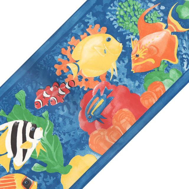 Tropical Fish Prepasted Wall Border Roll