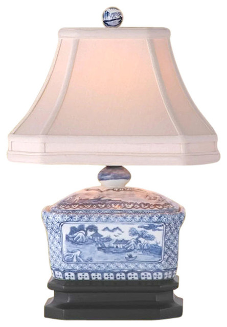 Blue And White Porcelain Candy Box Table Lamp Willow 15