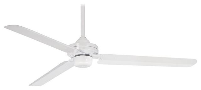 Steal 54 Ceiling Fan, Flat White.