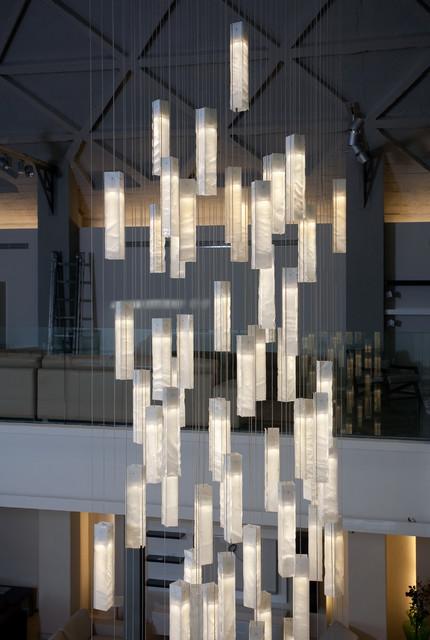 Galilee lighting modern foyer chandelier modern entry for High ceiling lighting