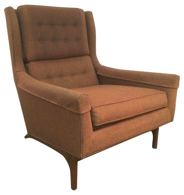 Modern Wing Chairs vintage goebel woodworks danish modern wing chair - armchairs and