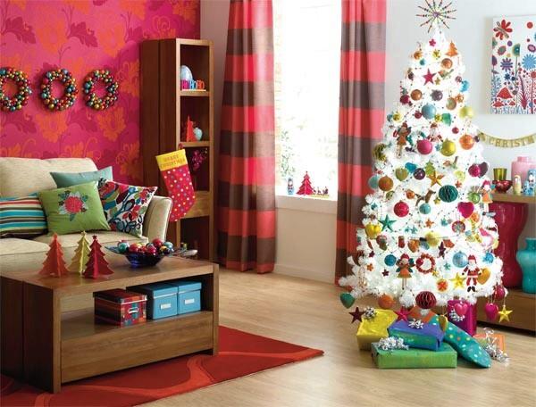Modern Christmas Decor Contemporary Living Room