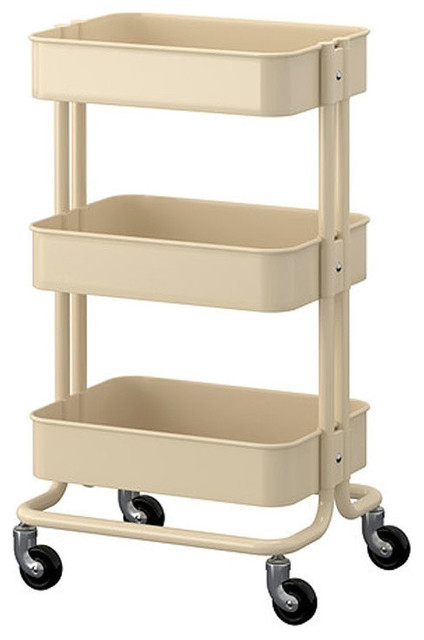 Raskog Home Kitchen Bedroom Storage Utility Cart, Cart Beige.