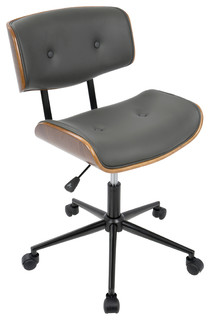 kline office chair walnut and cream contemporary office chairs