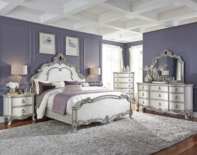 Rochelle Panel Bed Traditional Bedroom Miami By El Dorado Furniture