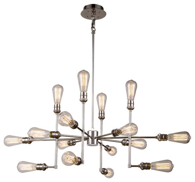 1139 Ophelia Collection Pendant Lamp, 43&x27;&x27;x17.5&x27;&x27;, Polished Nickel.