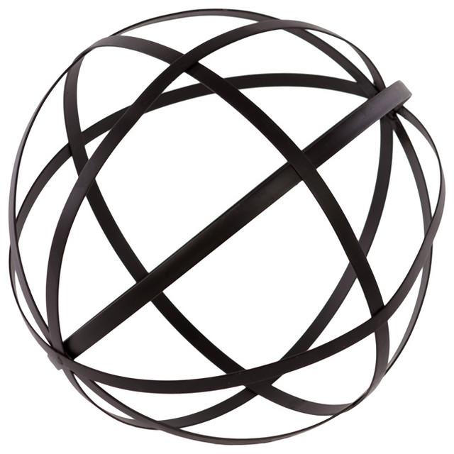 Metal orb dyson sphere design contemporary decorative for Sphere garden design