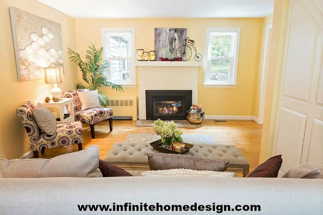 Vacant Home Before And After Traditional Living Room