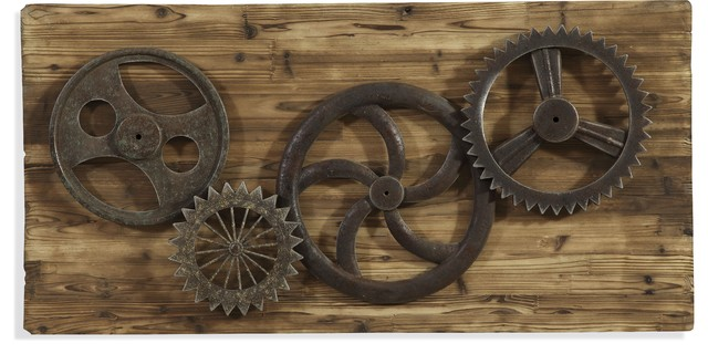 Gear Wall Decor industrial gear era wall art - industrial - wall sculptures -
