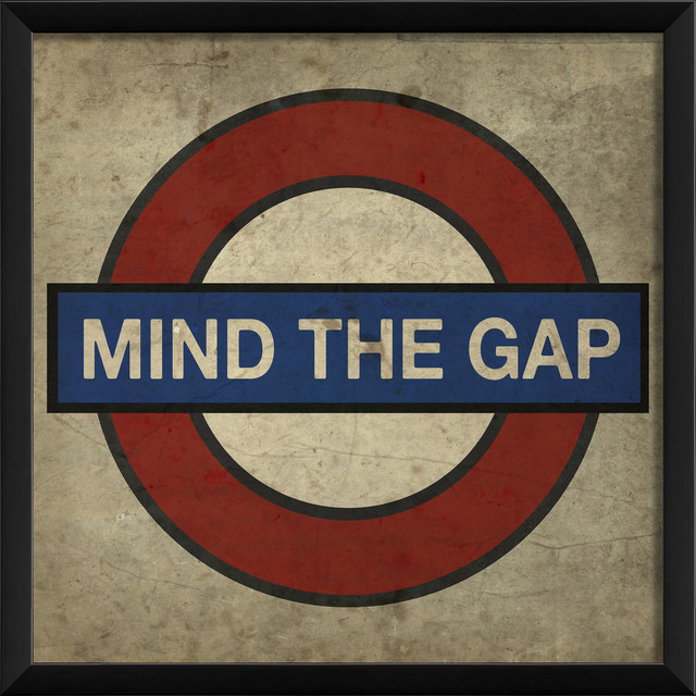 Mind The Gap London Underground Print 16x16