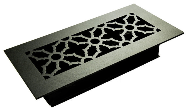 "Traditional Solid Steel Supply Vent, Oil Rubbed Bronze, 12""x5"" Supply"
