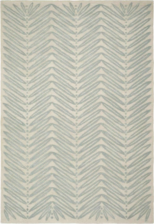 Safavieh Martha Stewart MSR3612C-Chevron Leaf Blue Fir Rug, 9'x12'Rectangle