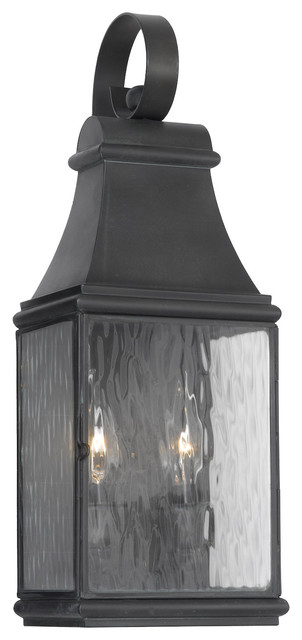 Charcoal Jefferson 2-Light 17.5 Inch Tall Outdoor Wall Sconce.