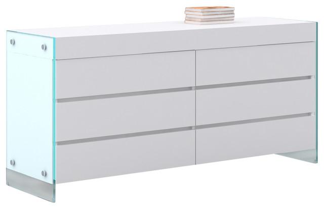 Cristallo Dresser, High Gloss White Lacquer.