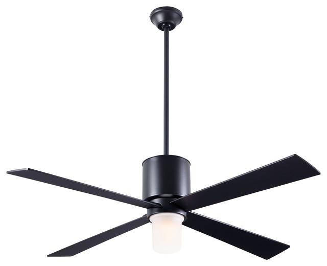"Lapa 17w Led Fan, Dark Bronze, 50"" Black Blades"