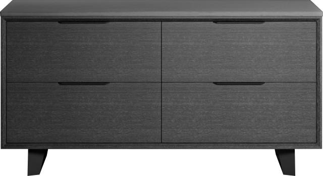 Amsterdam File Credenza Gray Oak And, Stylish File Cabinet