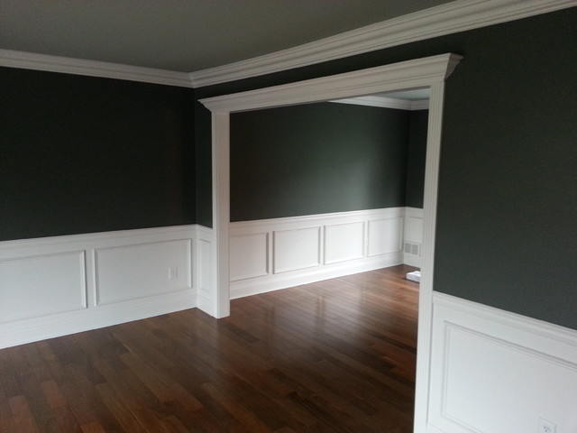Living room wainscoting traditional new york by jl for Living room wainscoting ideas